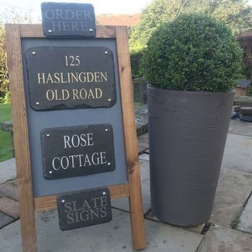 Slate House Signs by Platters